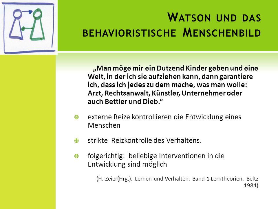 Watson und das behavioristische Menschenbild