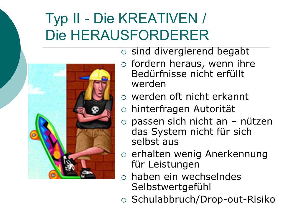 Typ II - Die KREATIVEN / Die HERAUSFORDERER