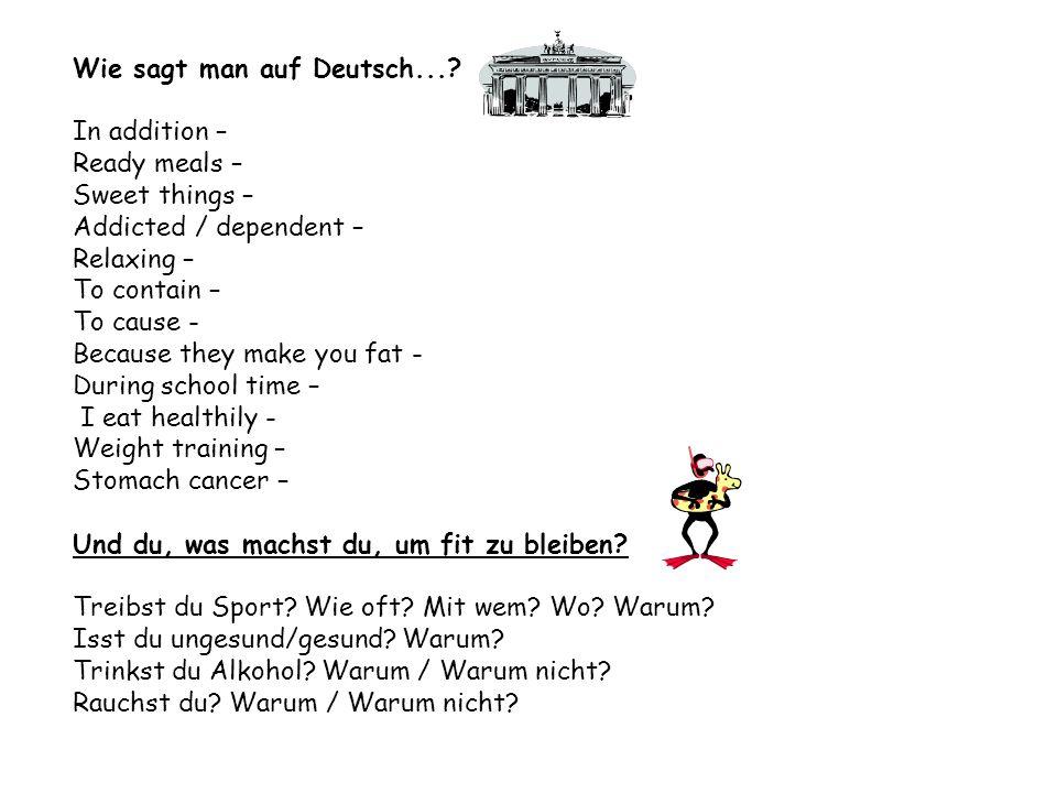 Wie sagt man auf Deutsch...
