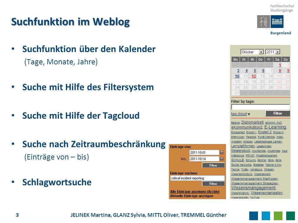 Suchfunktion im Weblog
