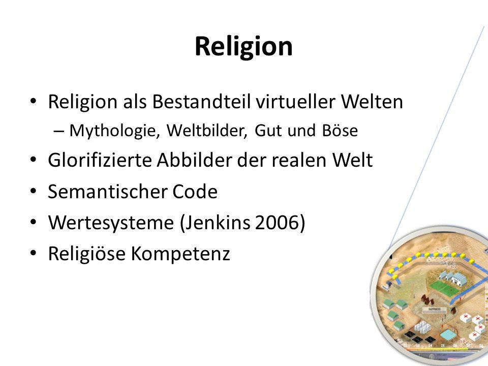 Religion Religion als Bestandteil virtueller Welten