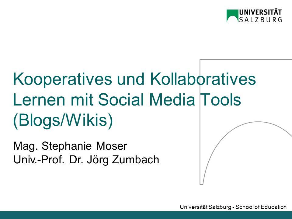 Kooperatives und Kollaboratives Lernen mit Social Media Tools (Blogs/Wikis)