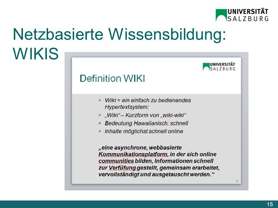 Netzbasierte Wissensbildung: WIKIS