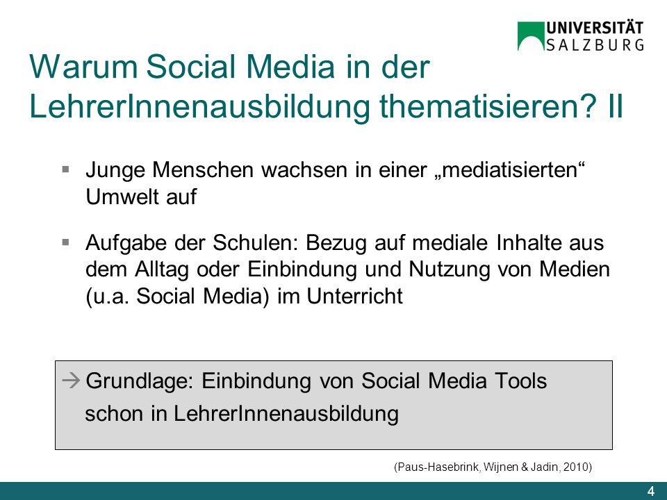 Warum Social Media in der LehrerInnenausbildung thematisieren II