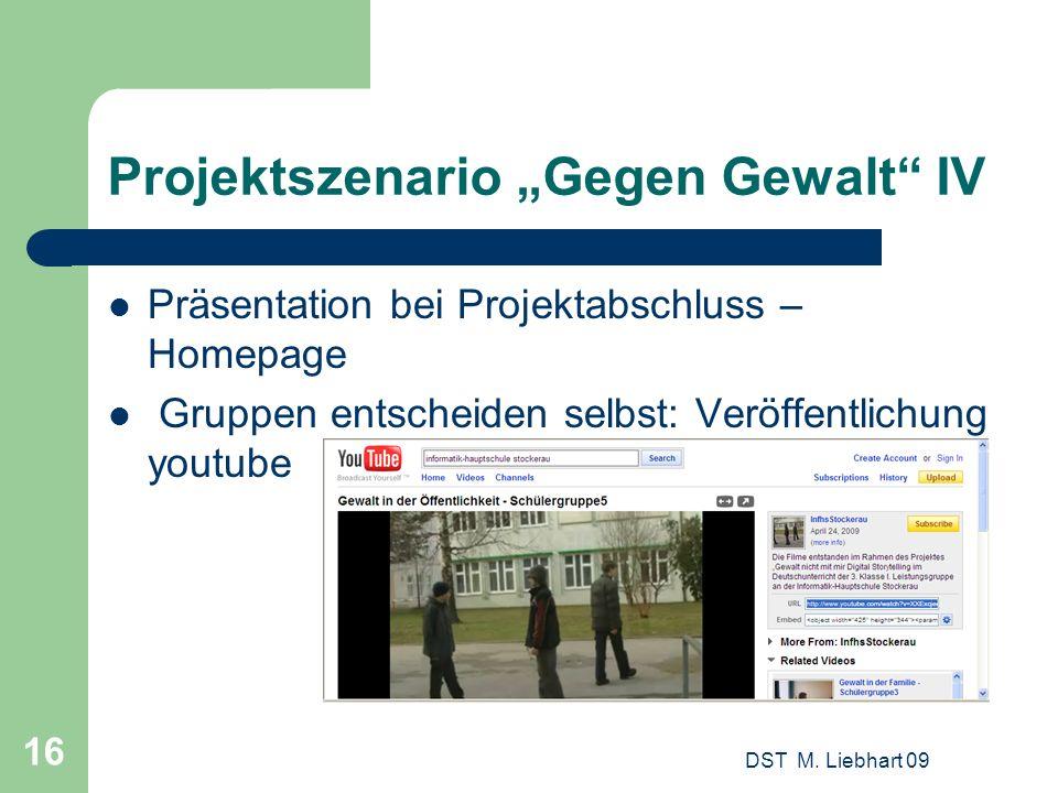 "Projektszenario ""Gegen Gewalt IV"