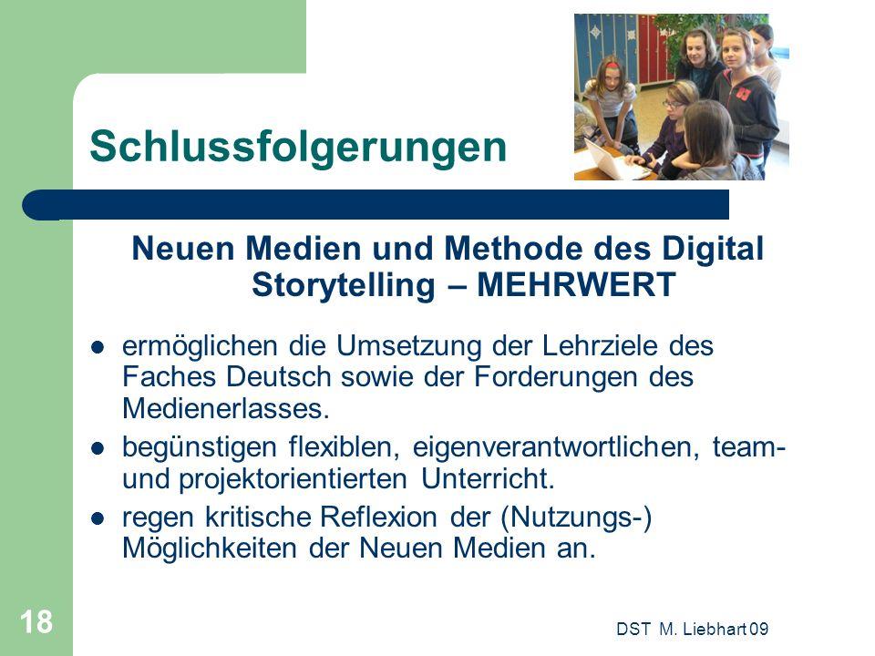 Neuen Medien und Methode des Digital Storytelling – MEHRWERT