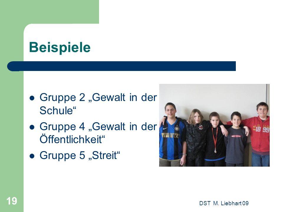 """Beispiele Gruppe 2 """"Gewalt in der Schule"""