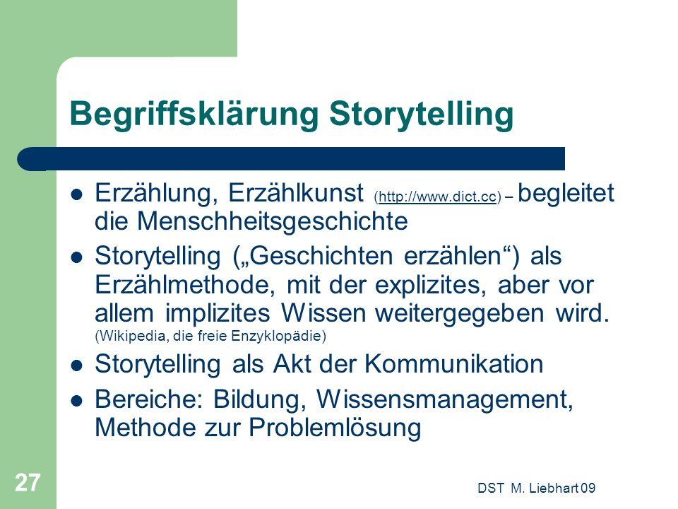 Begriffsklärung Storytelling