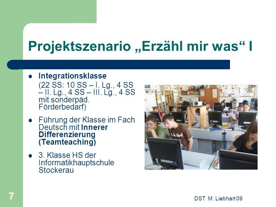 """Projektszenario """"Erzähl mir was I"""