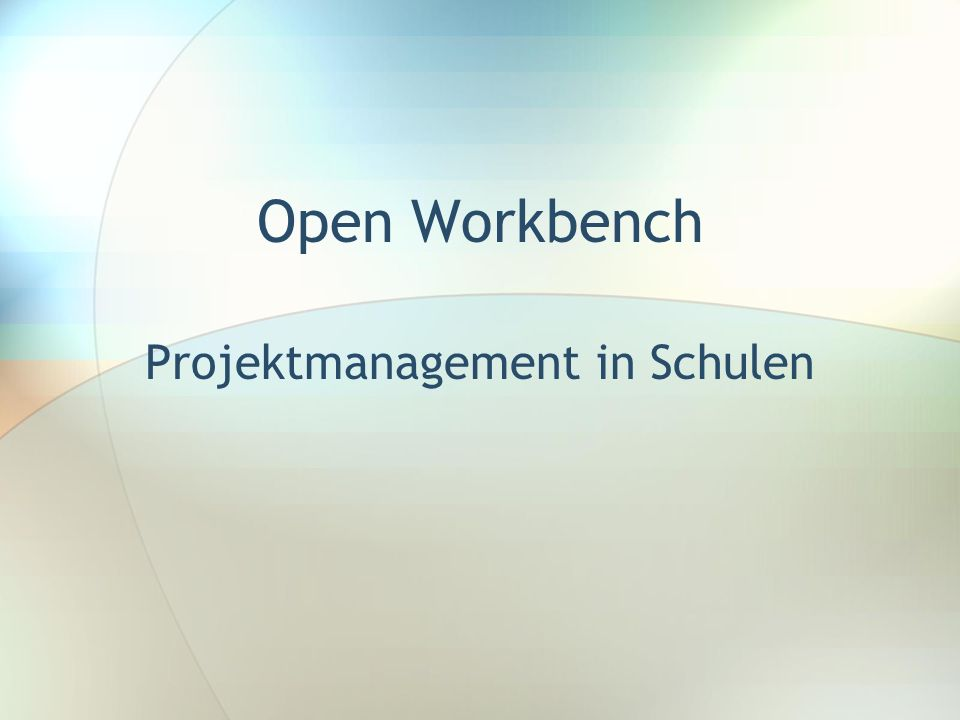 Projektmanagement in Schulen