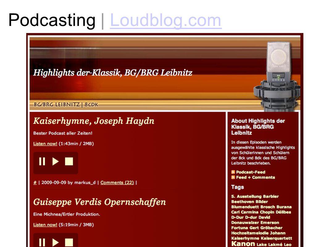 Podcasting | Loudblog.com
