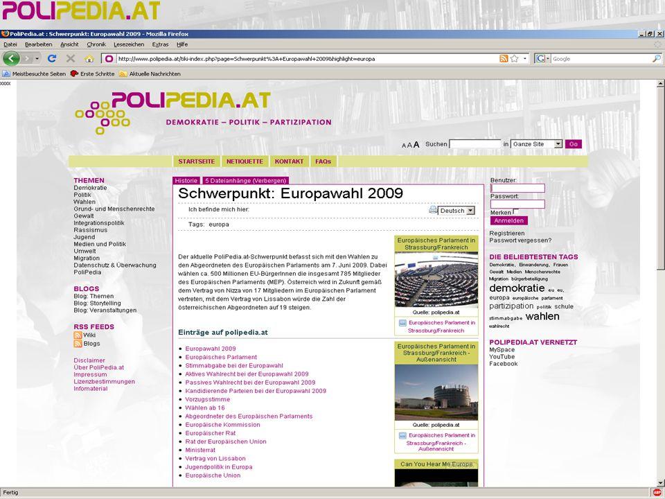 PoliPedia.at im Unterricht