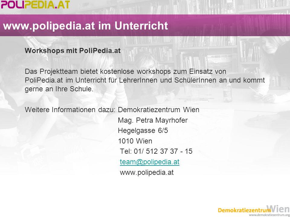 www.polipedia.at im Unterricht