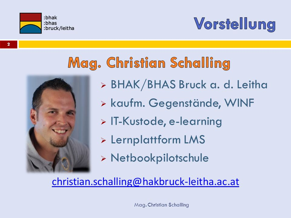 Mag. Christian Schalling