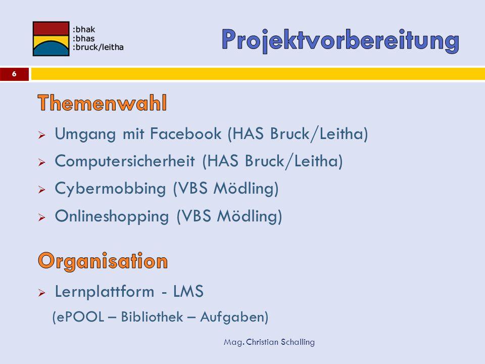 Projektvorbereitung Themenwahl Organisation