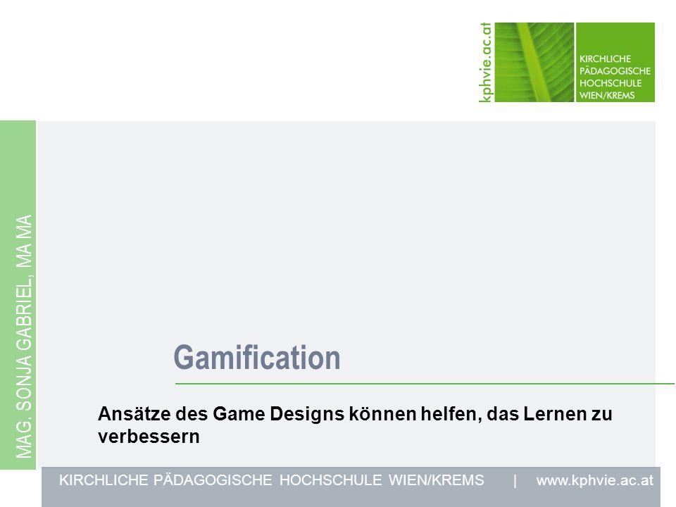 Gamification Mag. Sonja gabriel, ma ma
