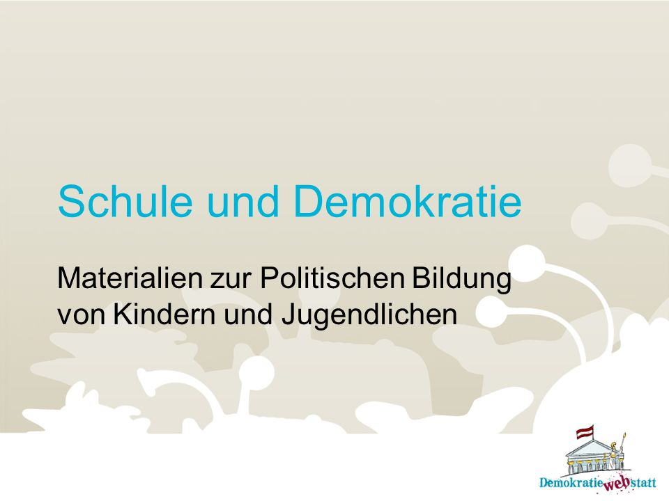 Materialien zur Politischen Bildung von Kindern und Jugendlichen