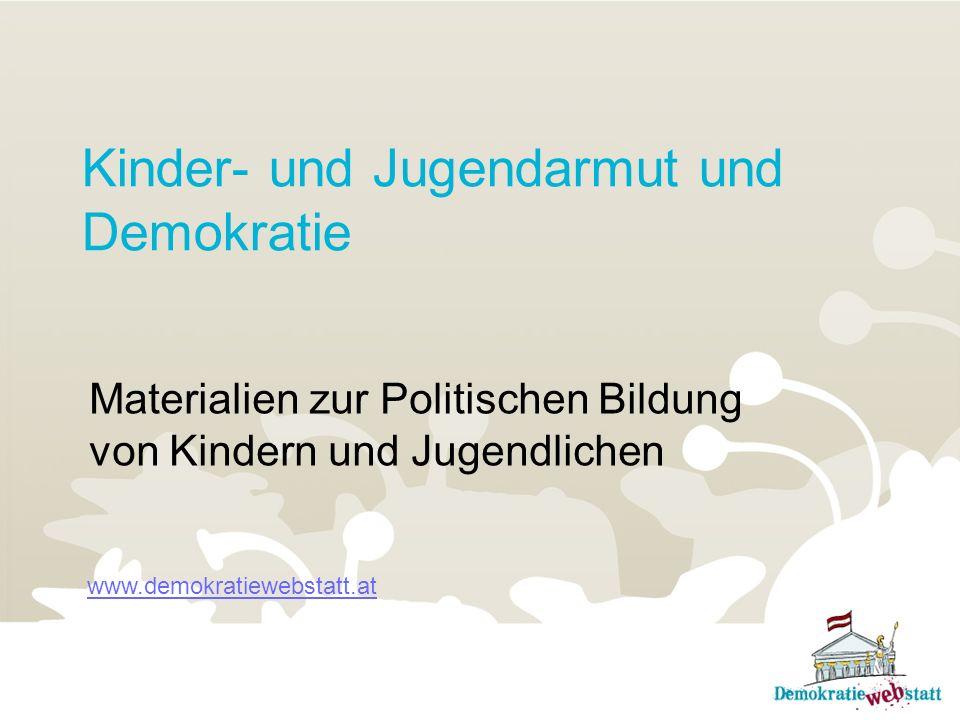 Kinder- und Jugendarmut und Demokratie