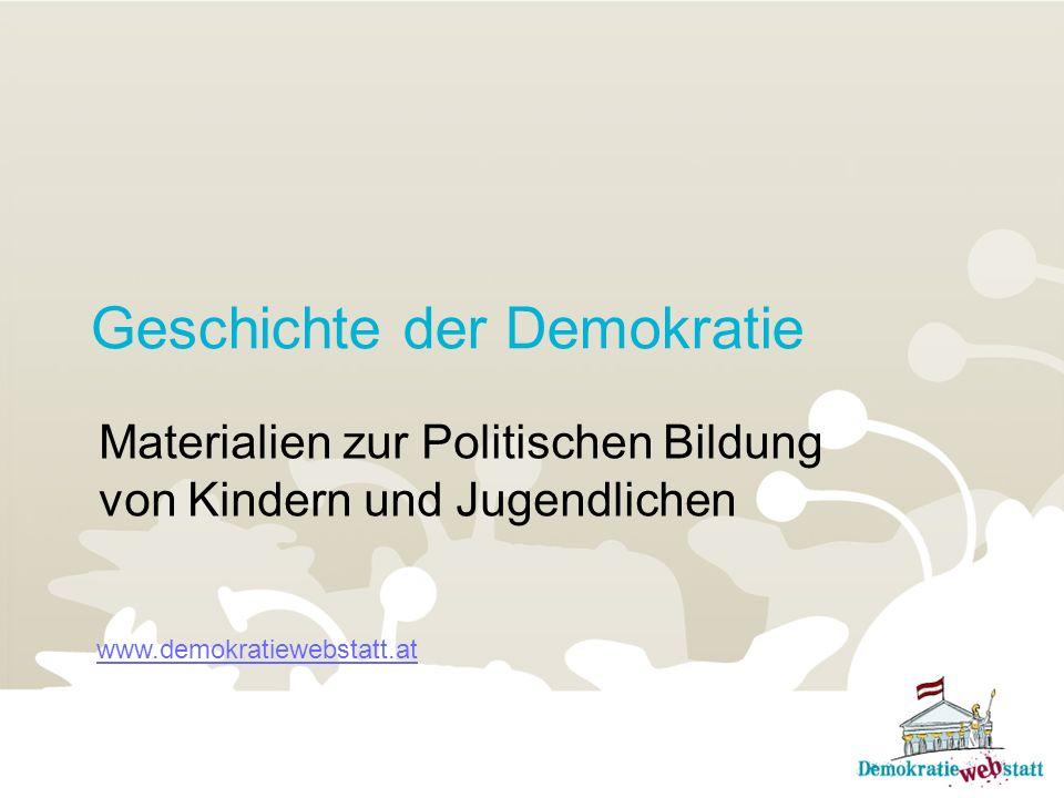 Geschichte der Demokratie