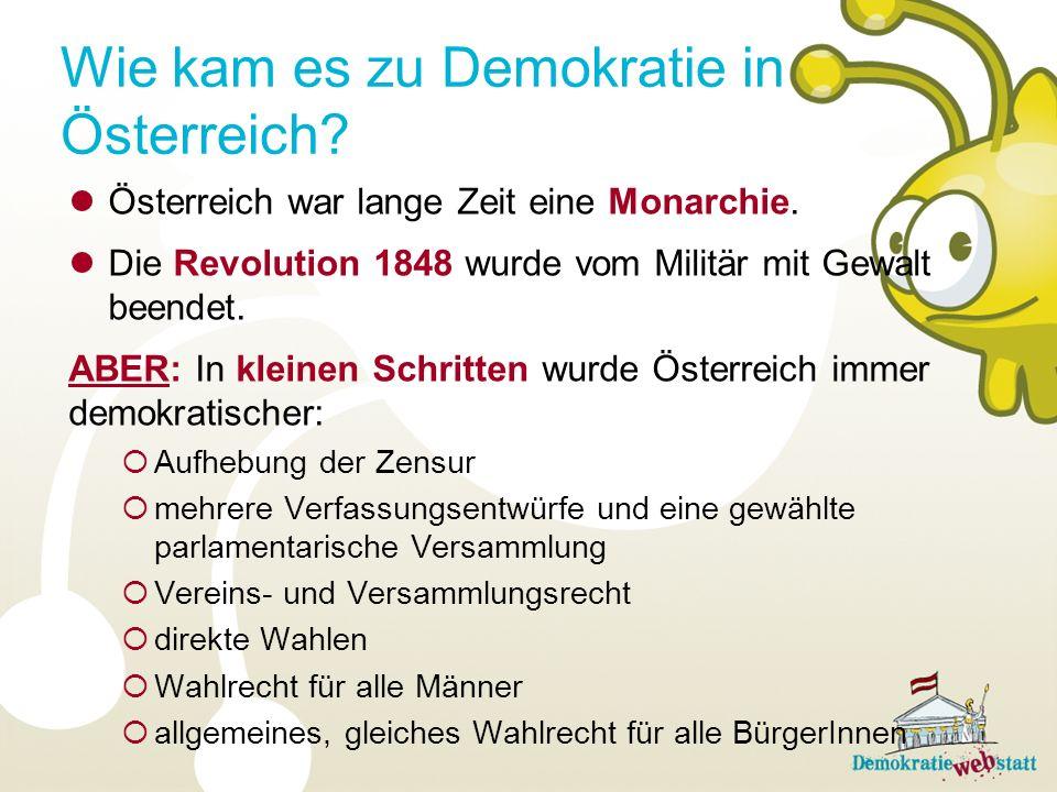 Wie kam es zu Demokratie in Österreich