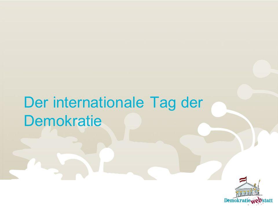 Der internationale Tag der Demokratie