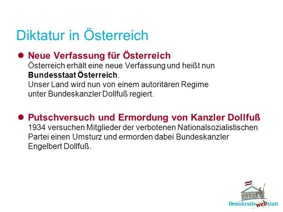Diktatur in Österreich