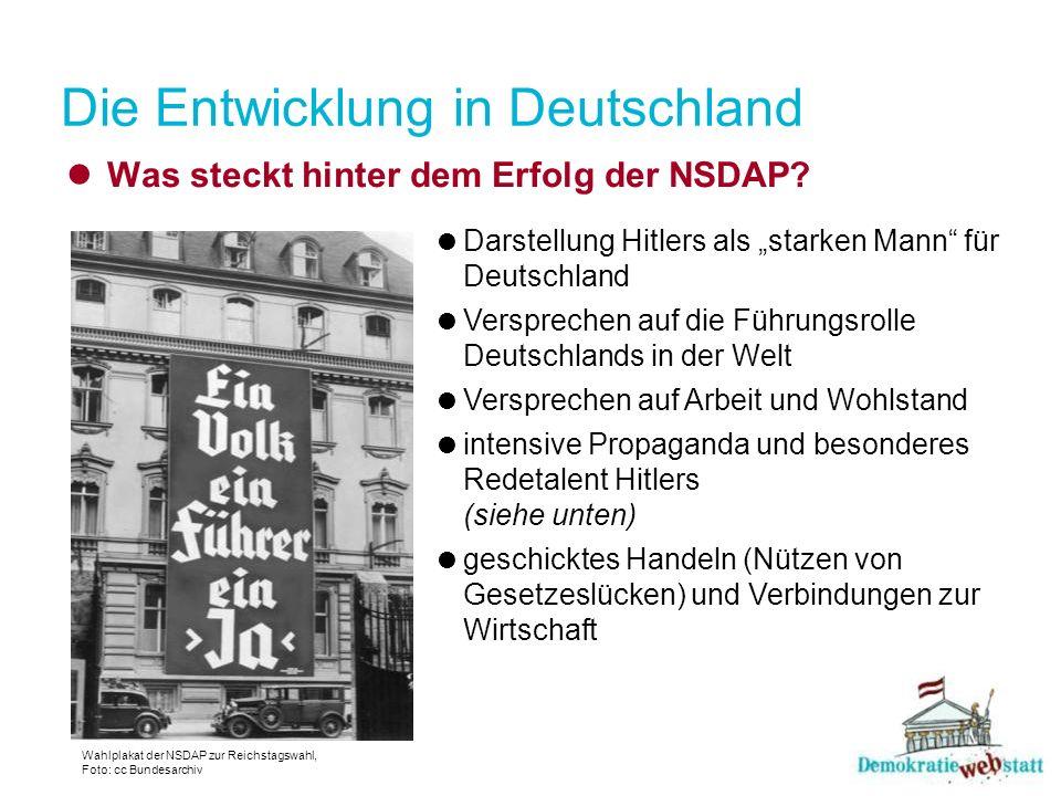 Die Entwicklung in Deutschland