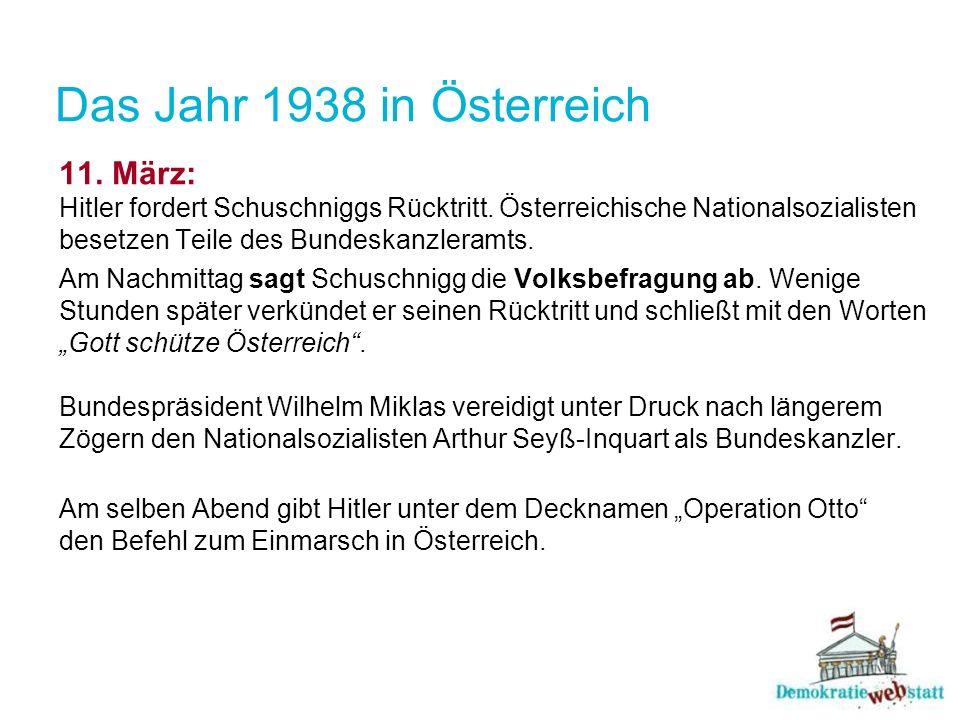 Das Jahr 1938 in Österreich