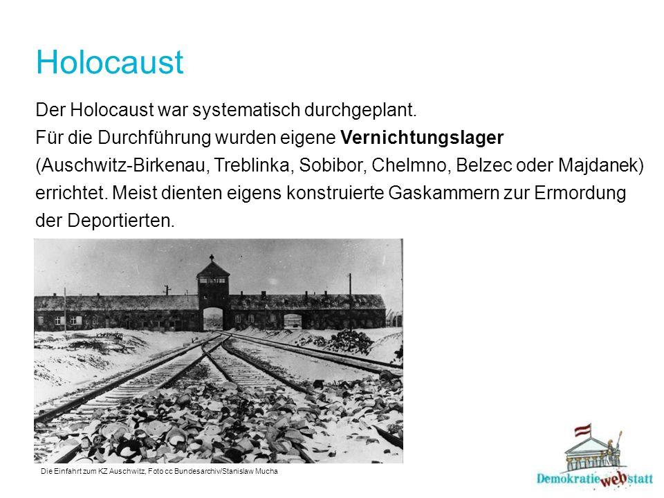 Holocaust Der Holocaust war systematisch durchgeplant.