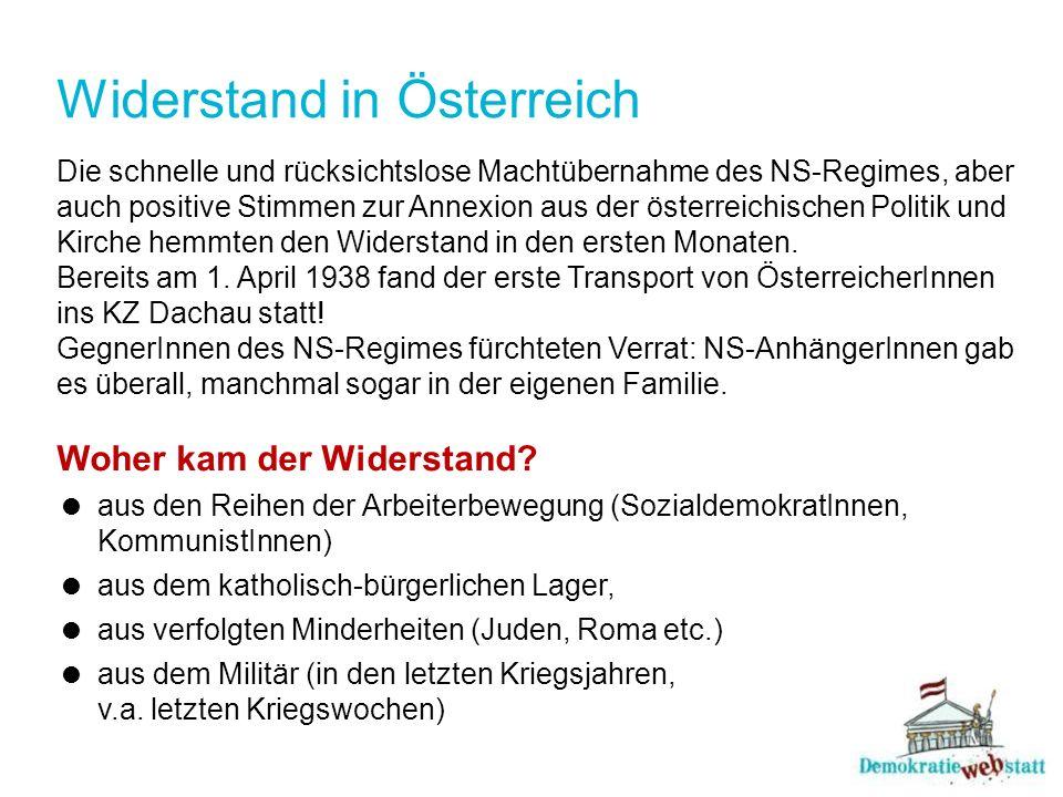 Widerstand in Österreich