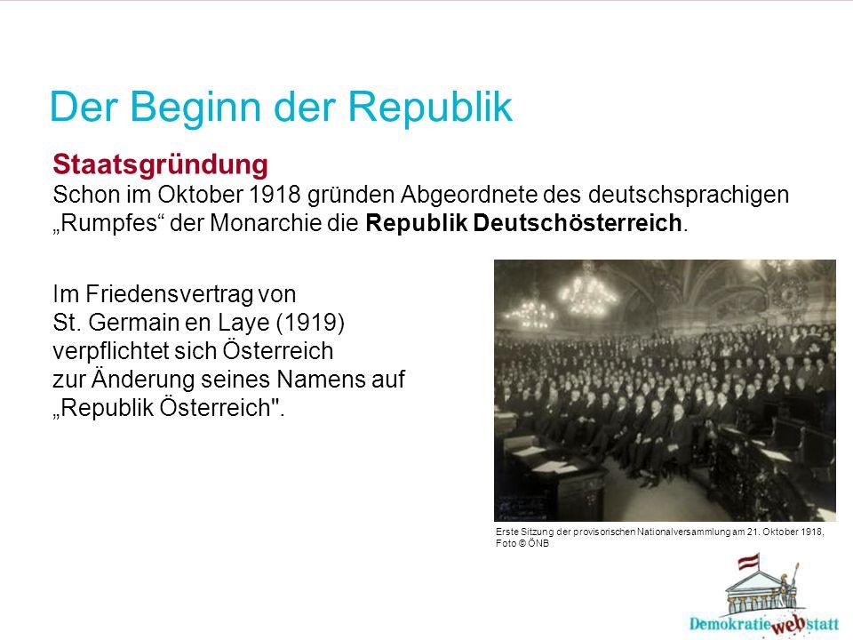 Der Beginn der Republik