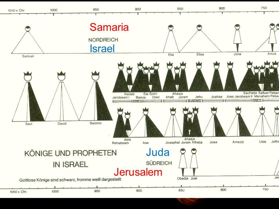 Samaria Israel Juda Jerusalem