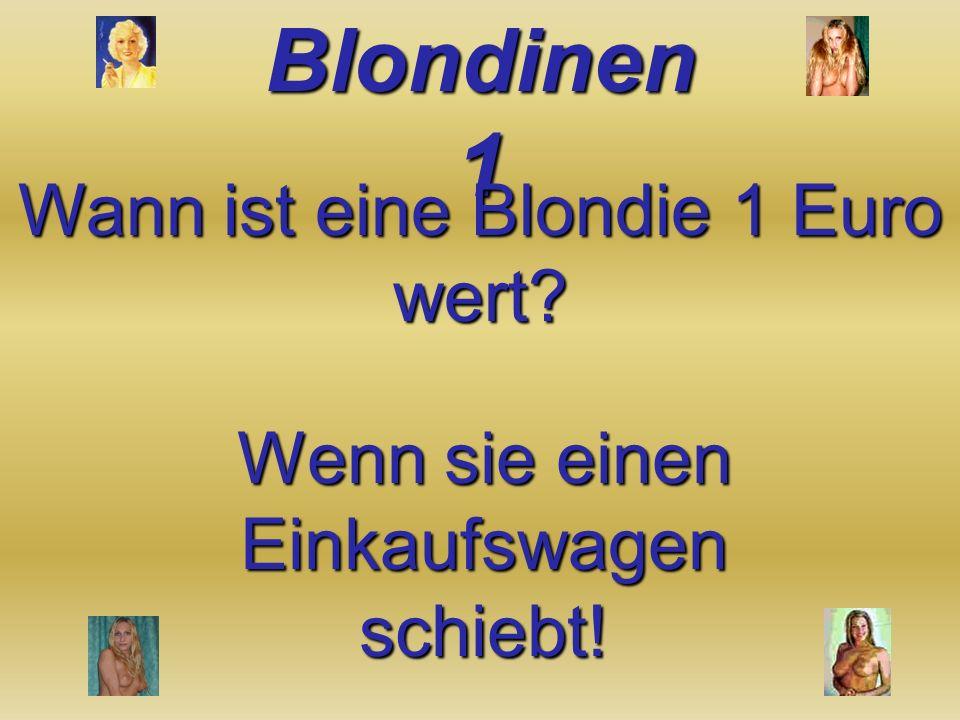 Wann ist eine Blondie 1 Euro wert