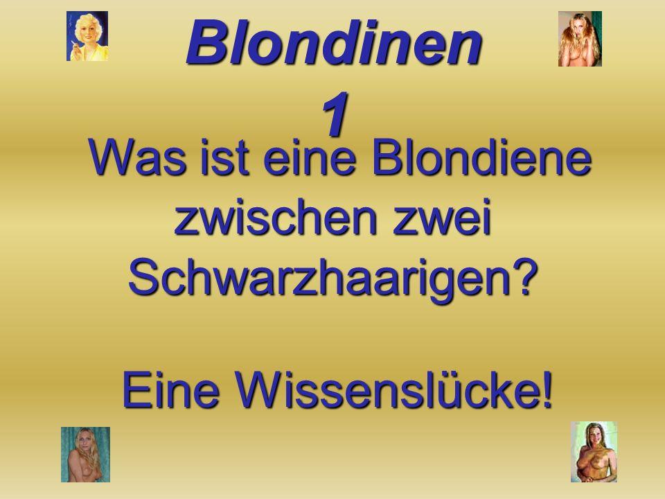 Was ist eine Blondiene zwischen zwei Schwarzhaarigen