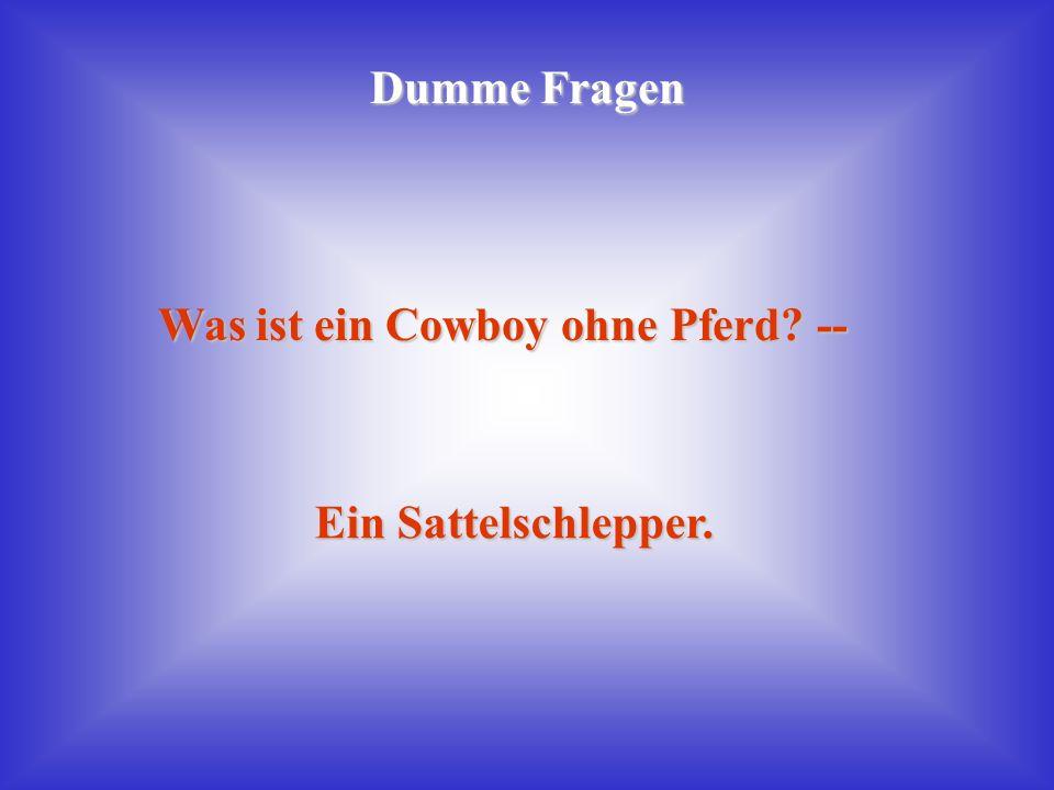 Was ist ein Cowboy ohne Pferd --