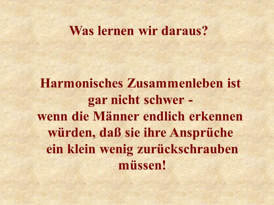 Harmonisches Zusammenleben ist gar nicht schwer -