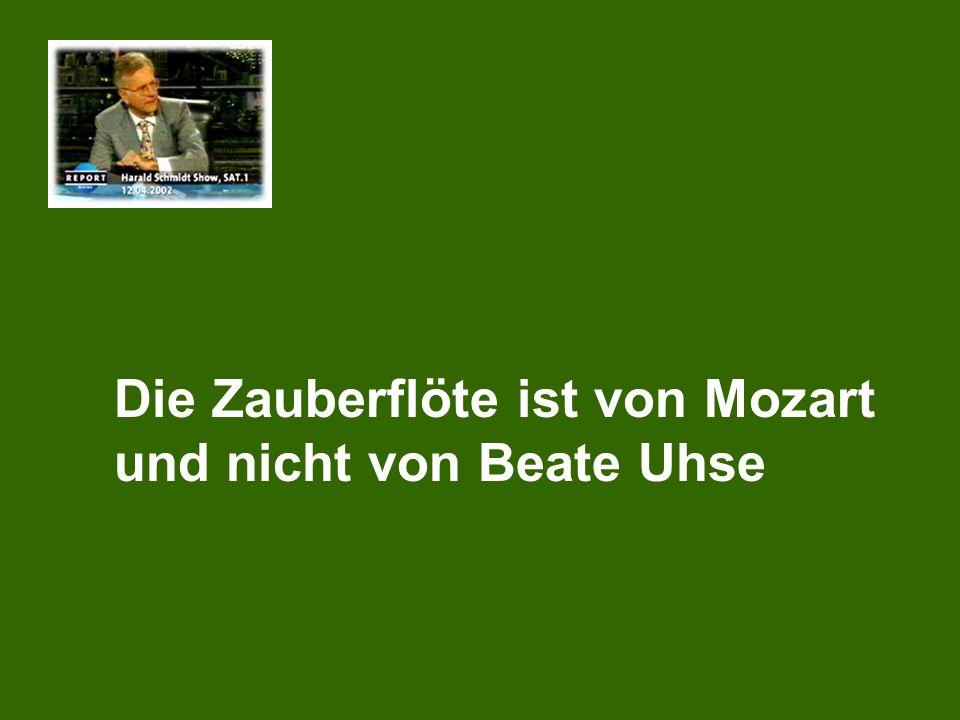 Die Zauberflöte ist von Mozart