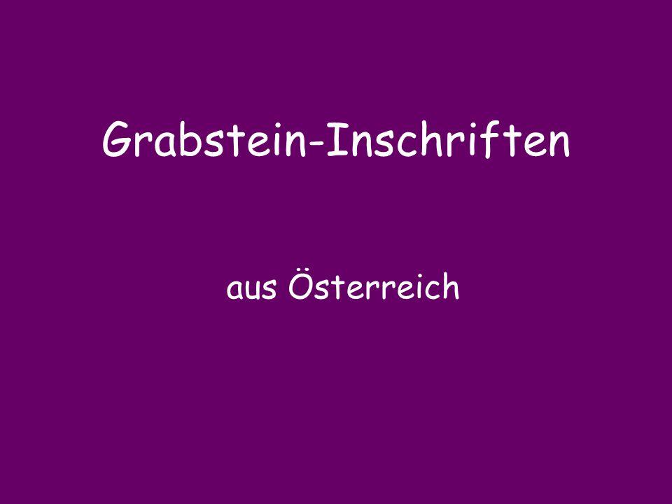 Grabstein-Inschriften