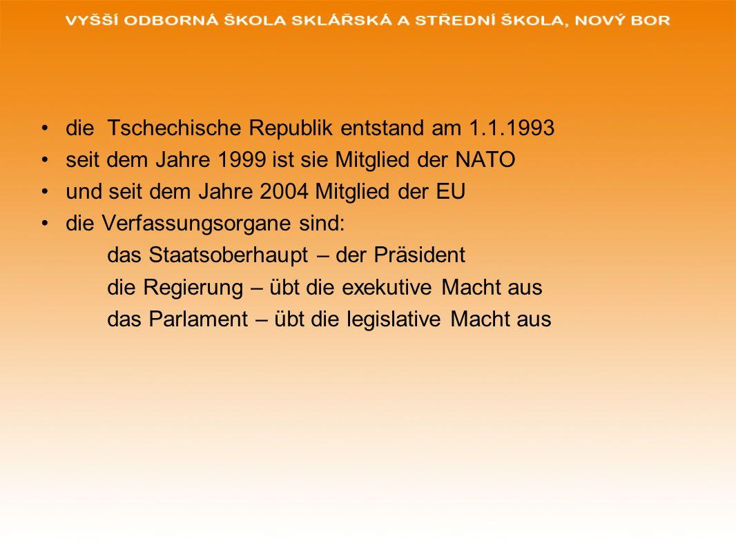 die Tschechische Republik entstand am 1.1.1993