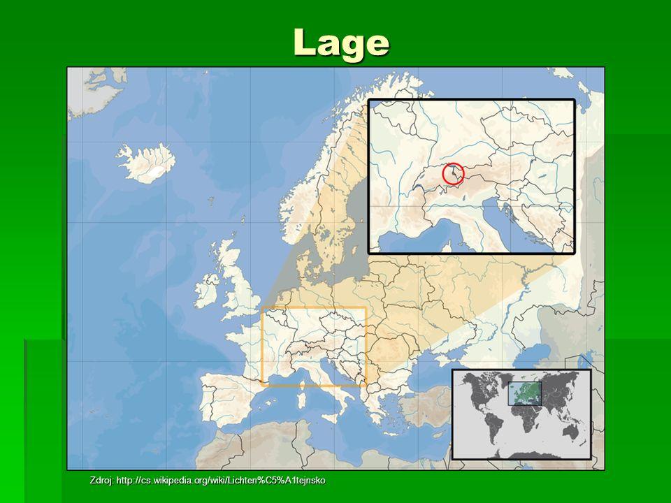 Lage Zdroj: http://cs.wikipedia.org/wiki/Lichten%C5%A1tejnsko