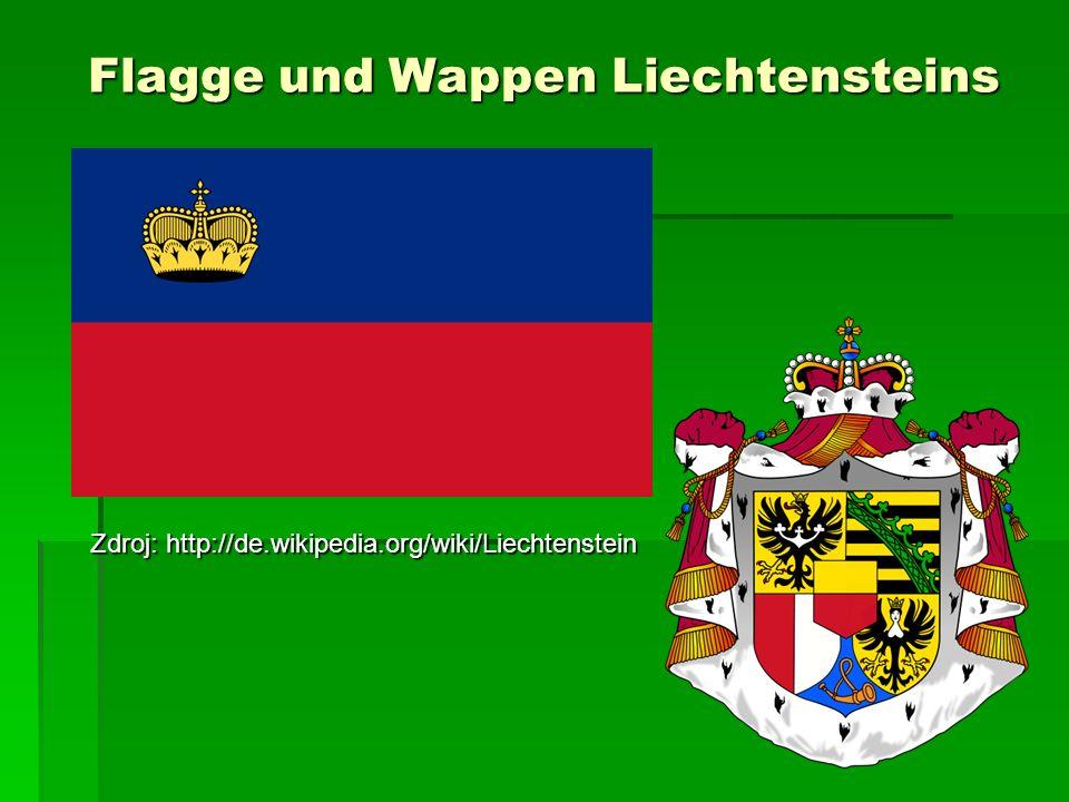 Flagge und Wappen Liechtensteins