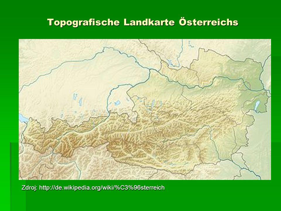 Topografische Landkarte Österreichs