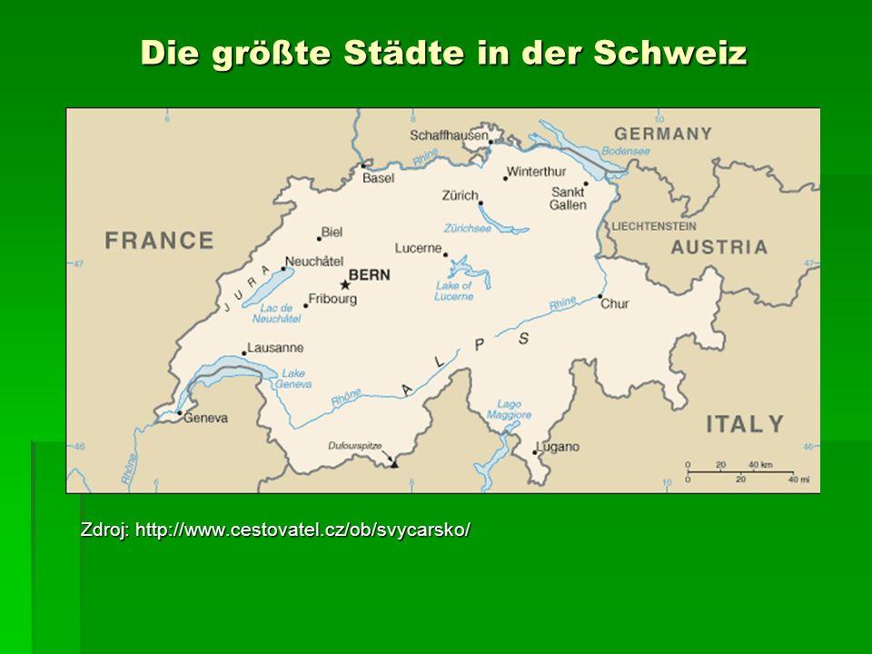 Die größte Städte in der Schweiz