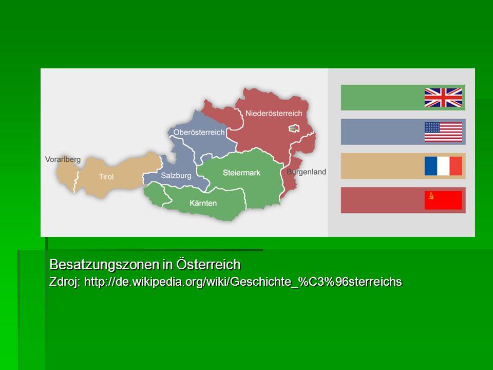 Besatzungszonen in Österreich