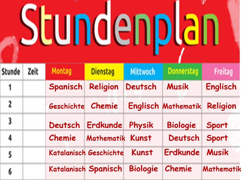 Spanisch Religion Deutsch Musik Englisch