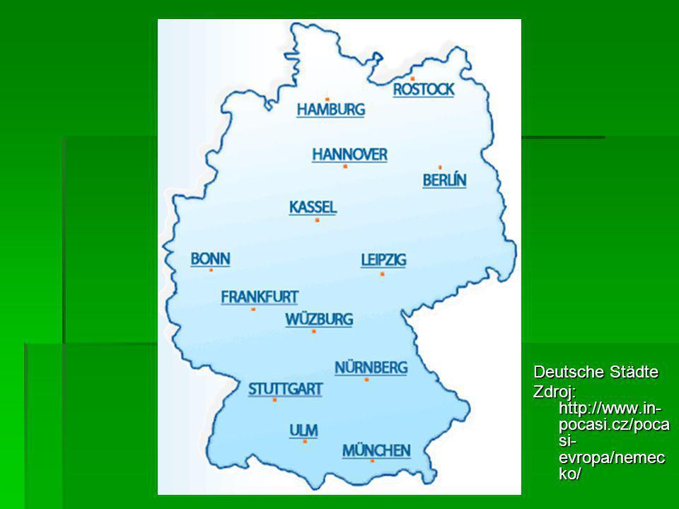 Deutsche Städte Zdroj: http://www.in-pocasi.cz/pocasi-evropa/nemecko/