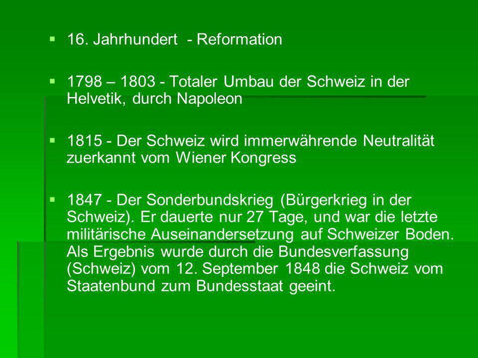 16. Jahrhundert - Reformation