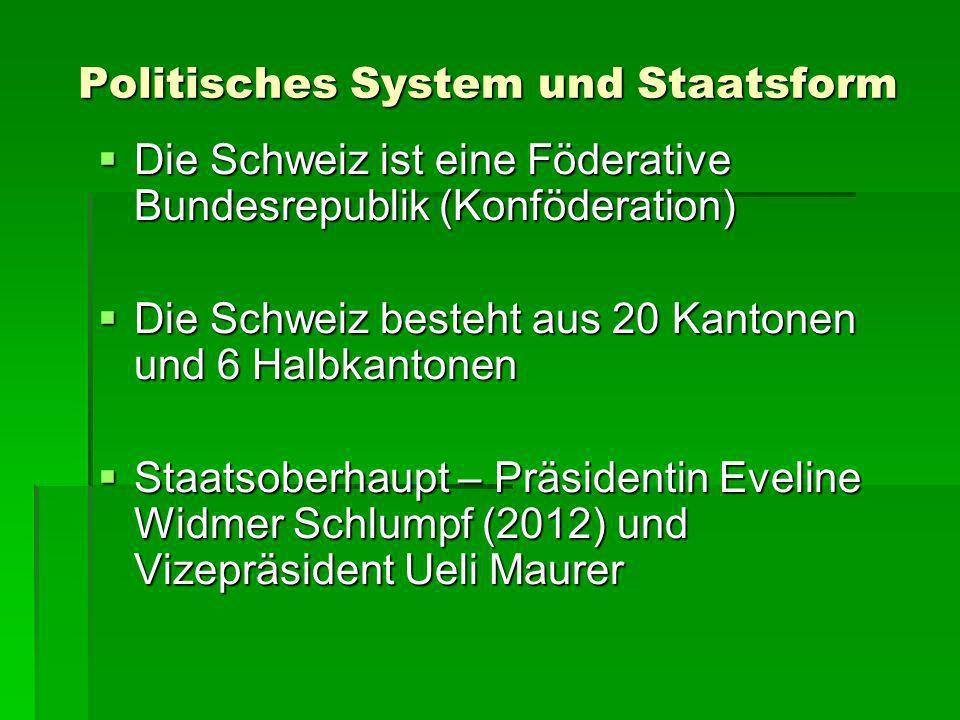 Politisches System und Staatsform