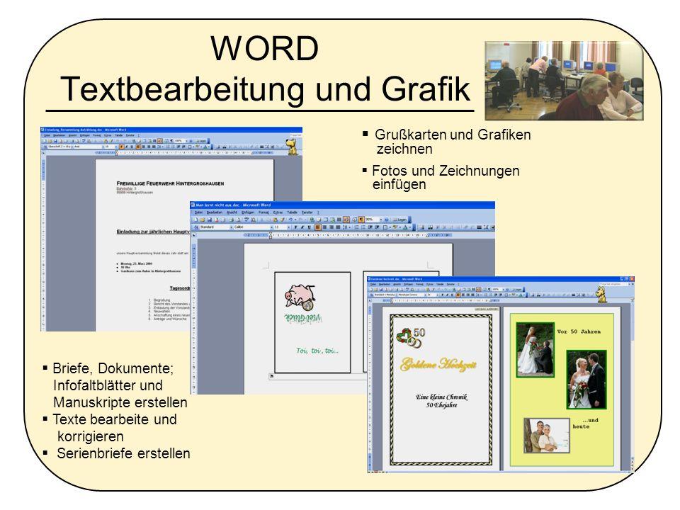 WORD Textbearbeitung und Grafik