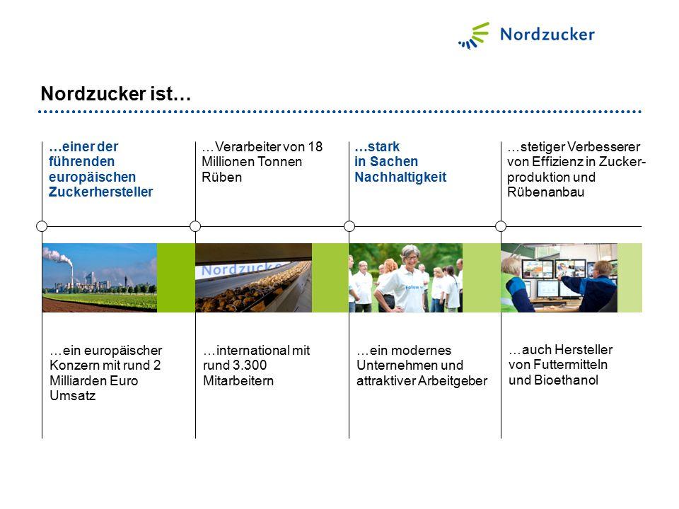 Nordzucker ist… …einer der führenden europäischen Zuckerhersteller